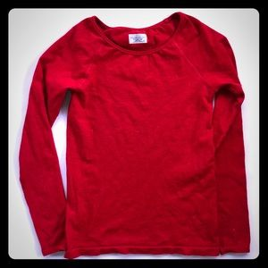 Athleta Red Long Sleeve Stretchy Top